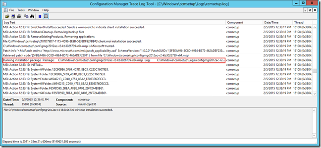 Updating Configuration Manager Client Package with Client Agent