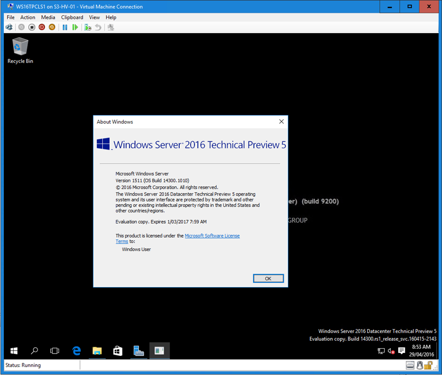 Now Available! Windows Server and System Center 2016 Technical