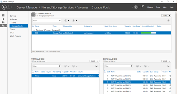 Storage Spaces Direct With 3 Vms Using Windows Server 2016