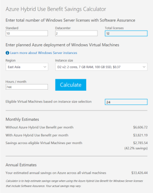 Convert existing Azure Virtual Machines to use Hybrid Use